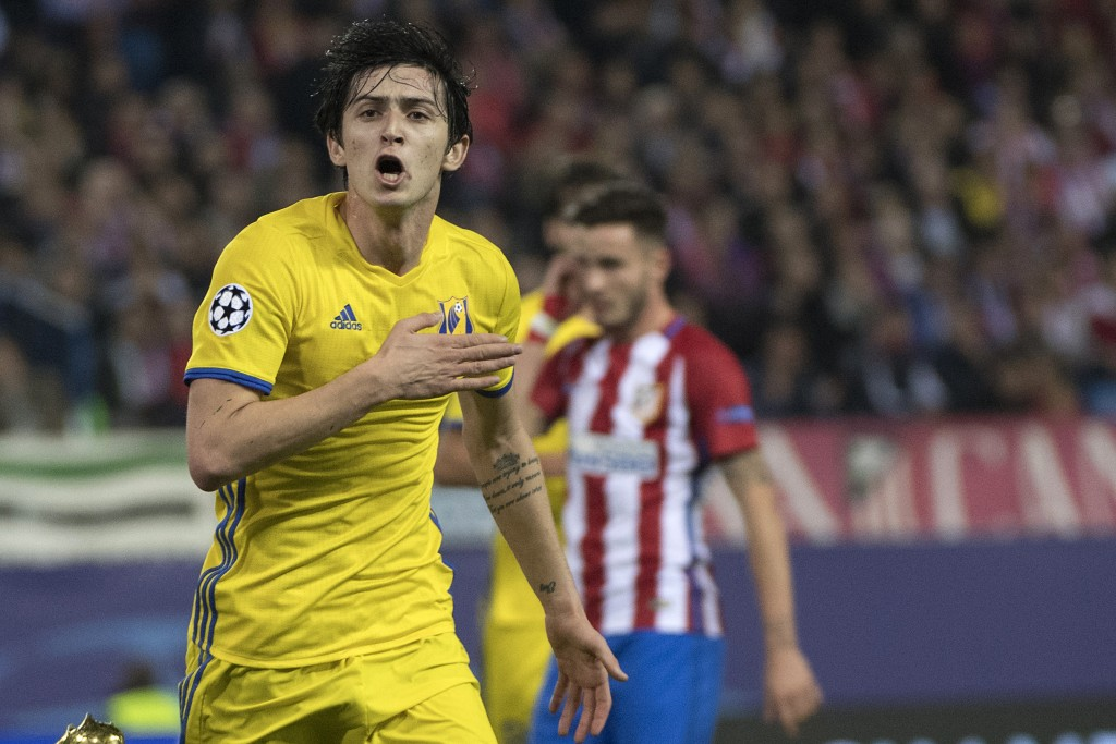 Azmoun caught the eye with his display against Atletico Madrid in the Champions League, capping it off with a goal and is generally showing a lot of promise. (Picture Courtesy - AFP/Getty Images)