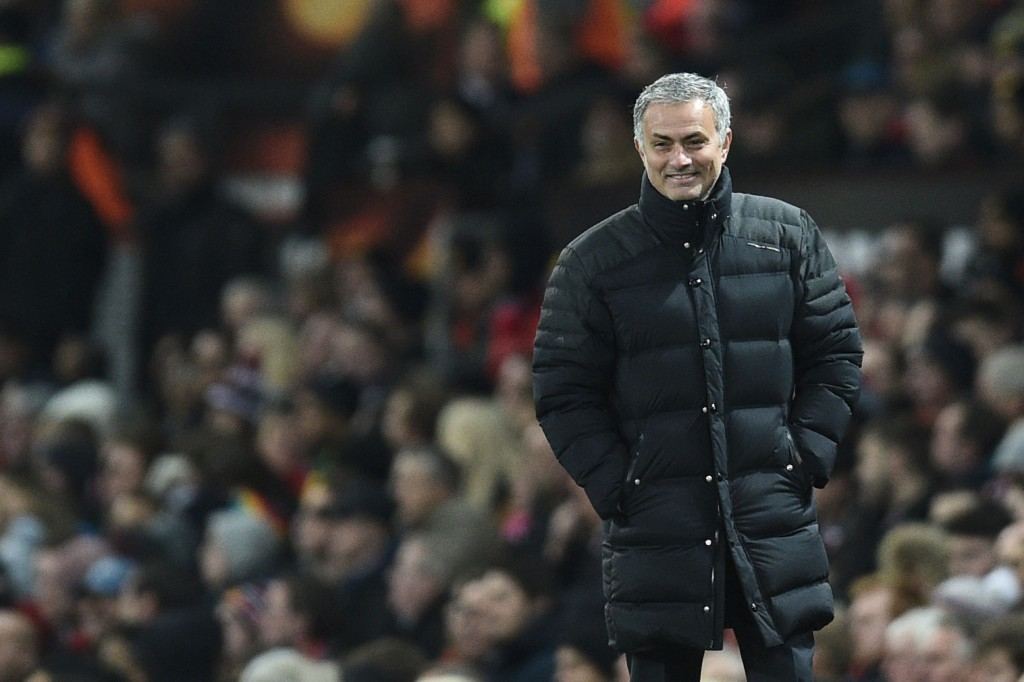 No injury concerns yield a happy Mourinho. (Picture Courtesy - AFP/Getty Images)