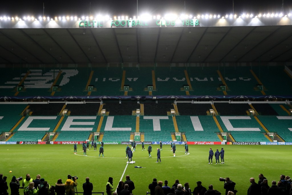 GLASGOW, SCOTLAND - NOVEMBER 22: A general overview of the stadium during the FC Barcelona training session at Celtic Park Stadium on November 22, 2016 in Glasgow, Scotland. (Photo by Ian MacNicol/Getty Images)