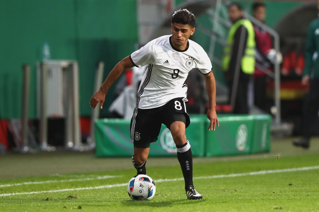 INGOLSTADT, GERMANY - OCTOBER 07: Mahmoud Dahoud of Germany runs with the ball during the 2017 UEFA European U21 Championships Qualifier between Germany and Russia at Audi Sportpark on October 7, 2016 in Ingolstadt, Germany. (Photo by Alexander Hassenstein/Bongarts/Getty Images)