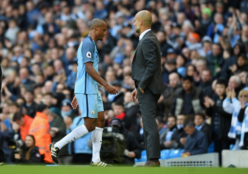 Manchester City captain Vincent Kompany is yet complete the whole 90 mins of a match this season. (Photo by Michael Regan/Getty Images)