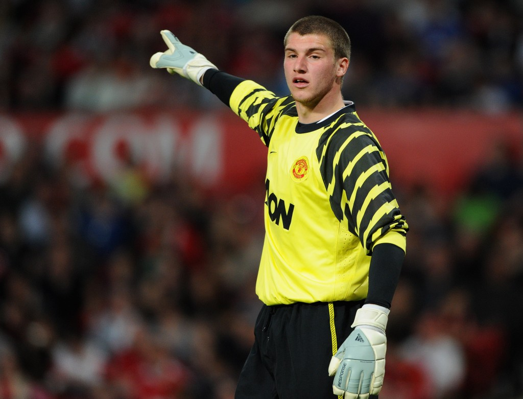 MANCHESTER, ENGLAND - APRIL 20: Sam Johnstone of Manchester United looks on during the FA Youth Cup Semi Final 2nd Leg between Manchester United and Chelsea at Old Trafford on April 20, 2011 in Manchester, England. (Photo by Michael Regan/Getty Images)