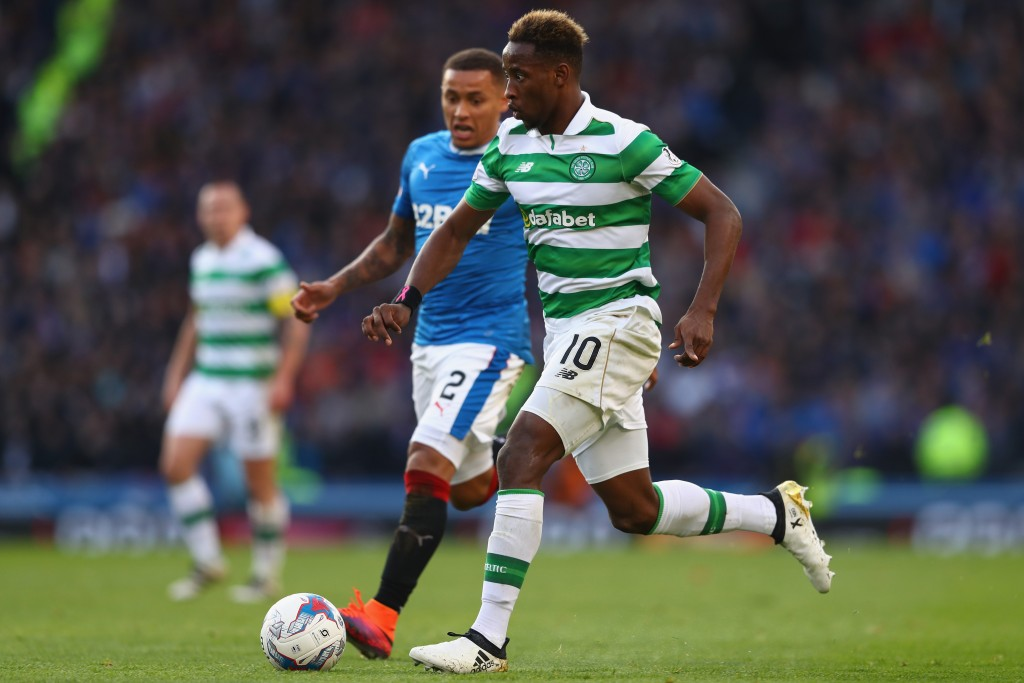GLASGOW, SCOTLAND - OCTOBER 23: Moussa Dembele of Celtic during the Betfred Cup Semi-Final match between Rangers and Celtic at Hampden Park on October 23, 2016 in Glasgow, Scotland. (Photo by Michael Steele/Getty Images)