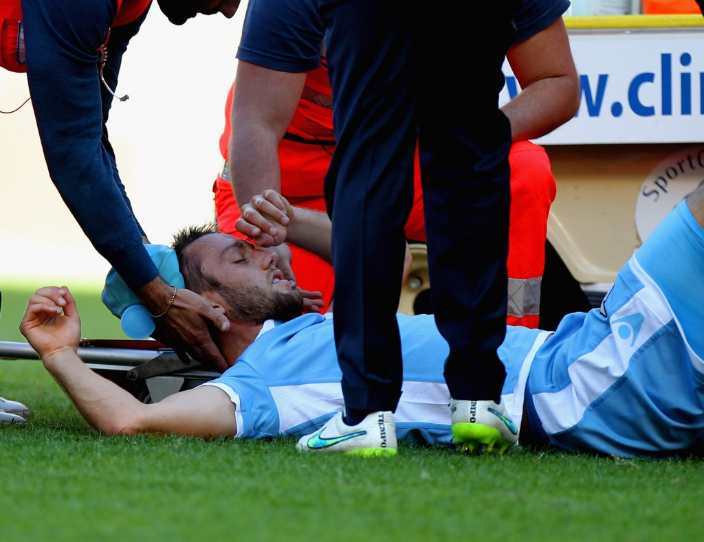 Injured again! (Picture Courtesy - AFP/Getty Images)