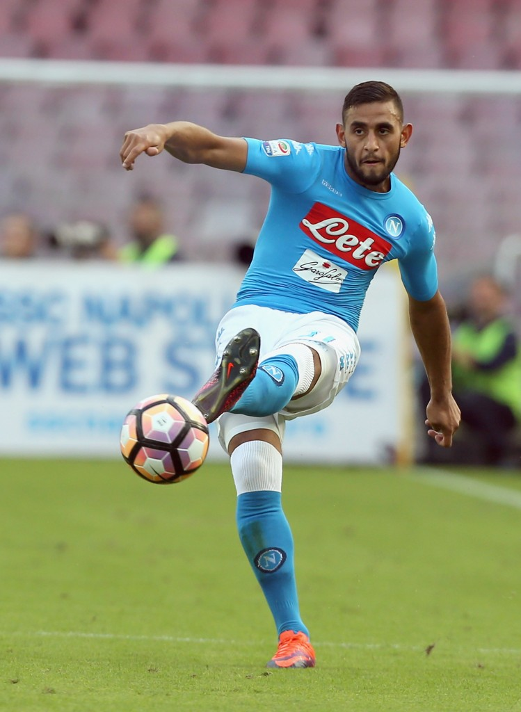 NAPLES, ITALY - OCTOBER 15: Faouzi Ghoulam of Napoli during the Serie A match between SSC Napoli and AS Roma at Stadio San Paolo on October 15, 2016 in Naples, Italy. (Photo by Maurizio Lagana/Getty Images)