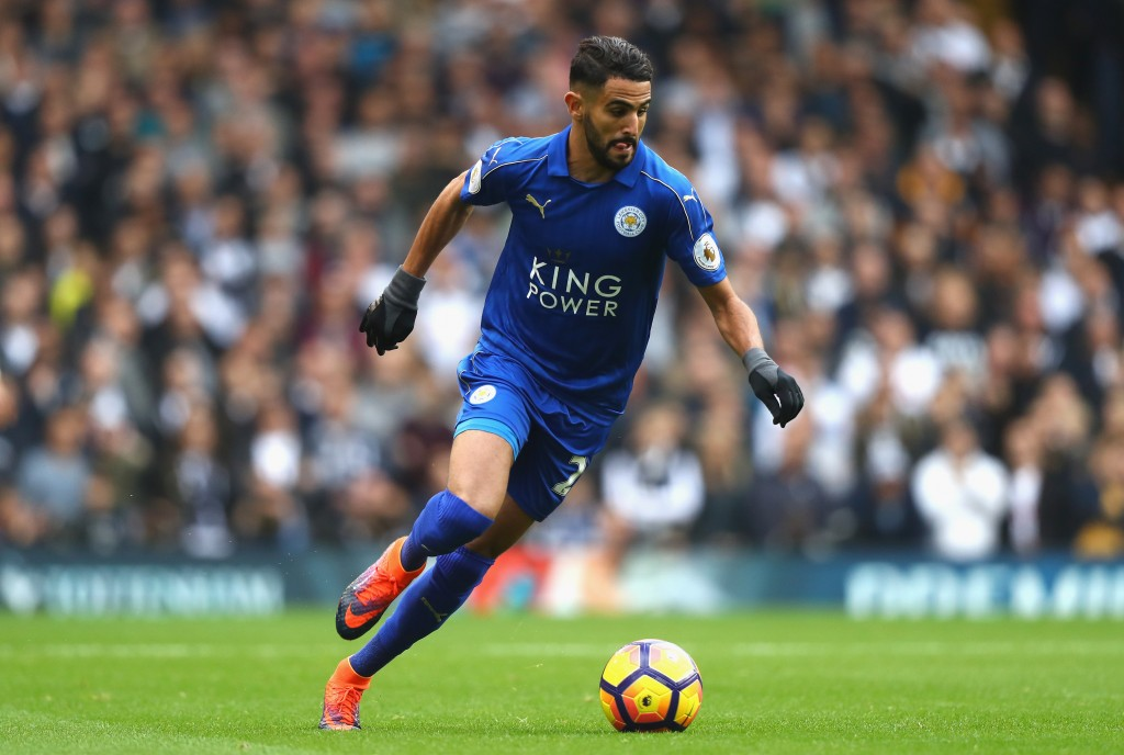 LONDON, ENGLAND - OCTOBER 29: Riyad Mahrez of Leicester City in action during the Premier League match between Tottenham Hotspur and Leicester City at White Hart Lane on October 29, 2016 in London, England. (Photo by Clive Rose/Getty Images)