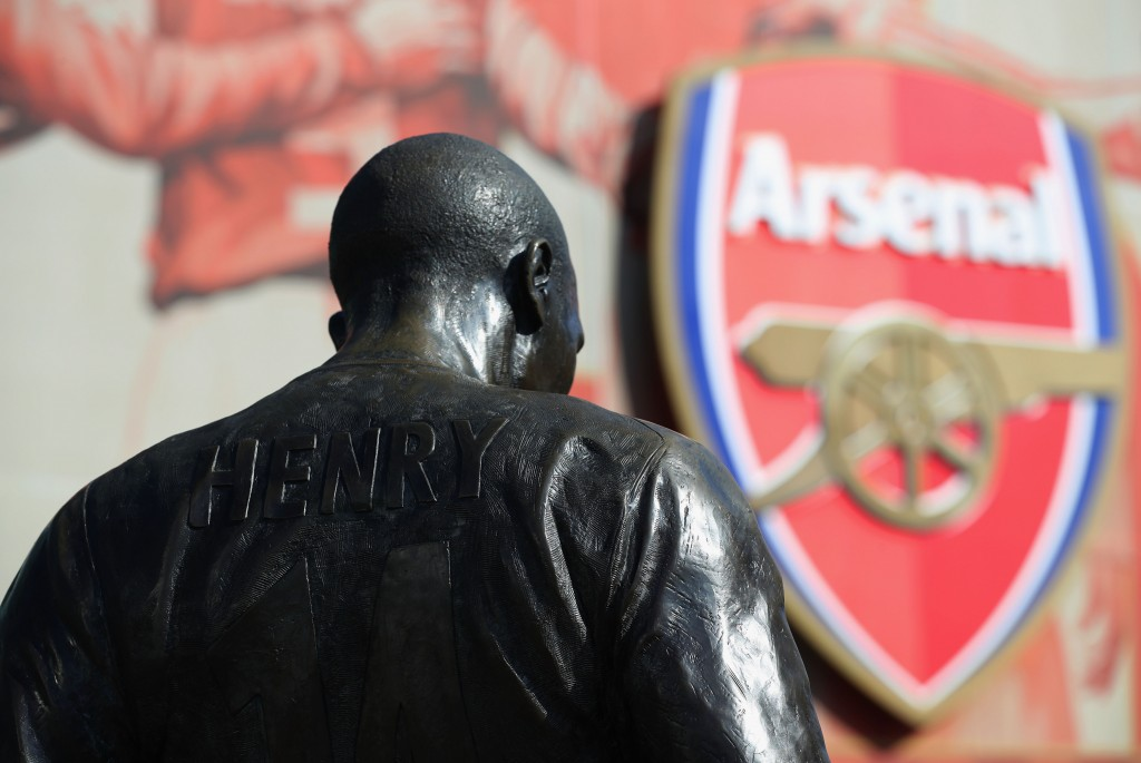 LONDON, ENGLAND - MARCH 13: The Thierry Henry statue is seen prior to the Emirates FA Cup sixth round match between Arsenal and Watford at Emirates Stadium on March 13, 2016 in London, England. (Photo by Richard Heathcote/Getty Images)