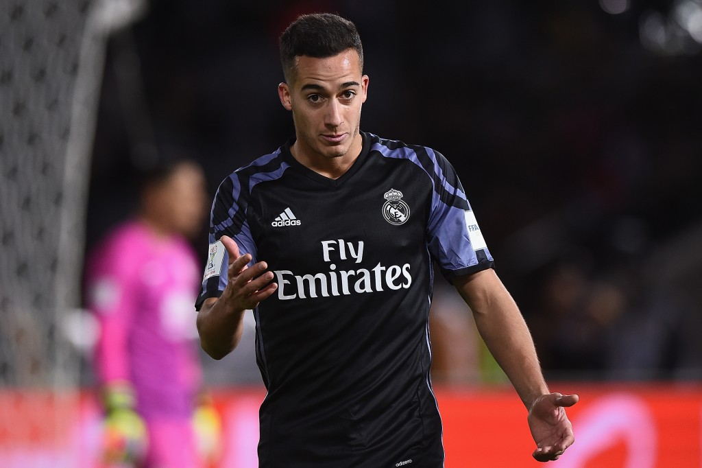 YOKOHAMA, JAPAN - DECEMBER 15: Lucas Vazquez reacts during the FIFA Club World Cup Japan semi-final match between Club America v Real Madrid at International Stadium Yokohama on December 15, 2016 in Yokohama, Japan. (Photo by Matt Roberts/Getty Images,)