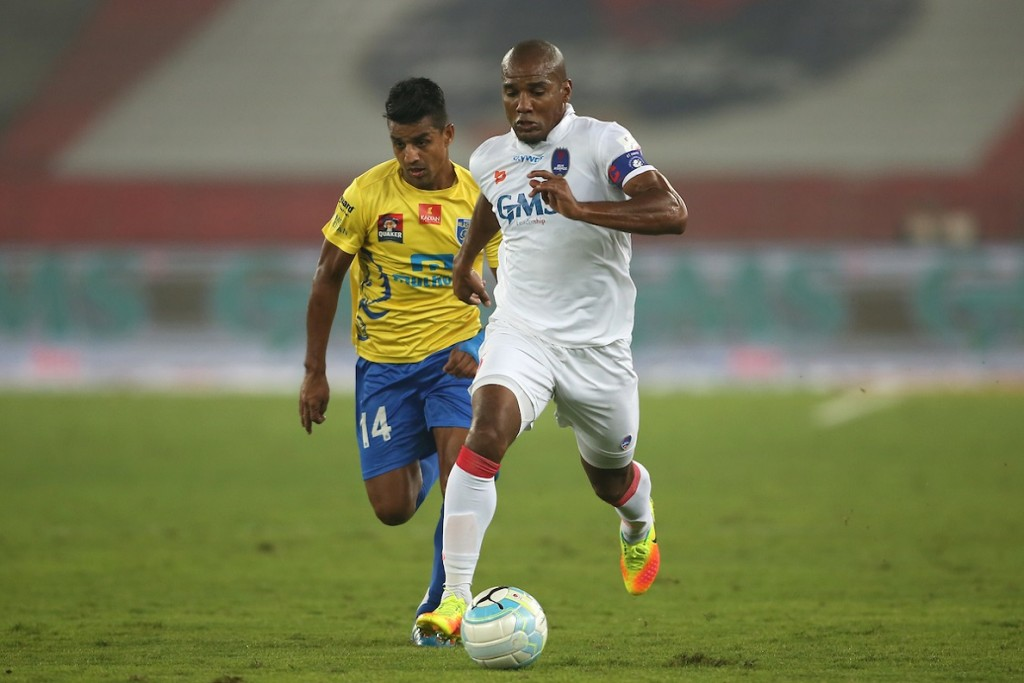 Malouda and the rest of the Delhi players failed to find the back of the net in the shootout. (Picture Courtesy - ISL)