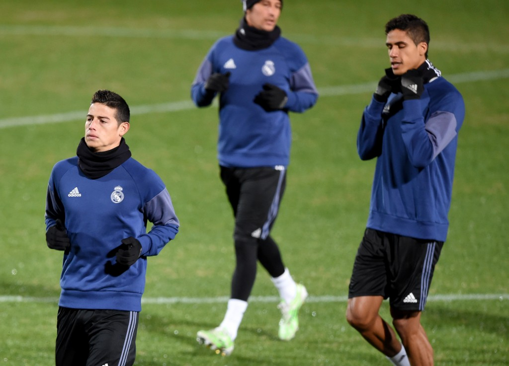 James Rodriguez was an unused substitute for Real Madrid in the Club World Cup final against Kashima Antlers (Photo by Toru Yamanaka/AFP/Getty Images)