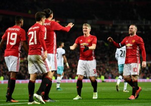 Manchester United 4 West Ham United 1: Zlatan, Martial score 2 each to secure win in EFL Cup tie [Video]