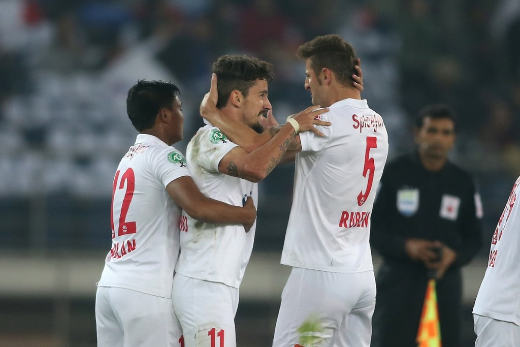 Marcelo Pereira opened the scoring for the Dynamos. (Picture Courtesy - ISL)