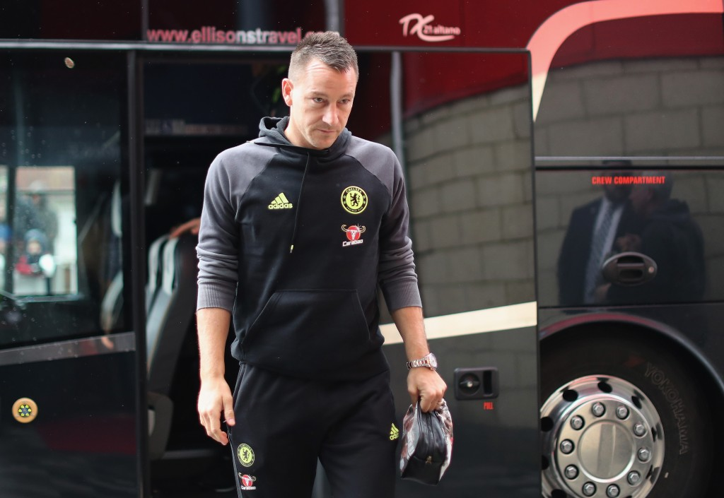 MIDDLESBROUGH, ENGLAND - NOVEMBER 20: John Terry of Chelsea arrives for the Premier League match between Middlesbrough and Chelsea at Riverside Stadium on November 20, 2016 in Middlesbrough, England. (Photo by Ian MacNicol/Getty Images)
