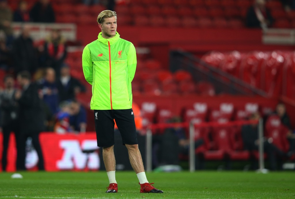 MIDDLESBROUGH, ENGLAND - DECEMBER 14: Loris Karius of Liverpool stands during the warm up prior to the Premier League match between Middlesbrough and Liverpool at Riverside Stadium on December 14, 2016 in Middlesbrough, England. (Photo by Alex Livesey/Getty Images)