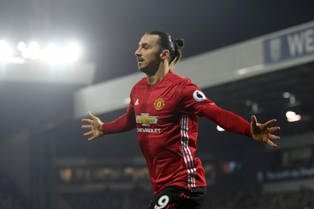 Stop me if you can - Zlatan Ibrahimovic has been at his prolific best for Manchester United this season. (Photo courtesy - Stu Forster/Getty Images)