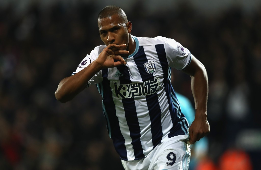 WEST BROMWICH, ENGLAND - DECEMBER 14: Salomon Rondon of West Bromwich Albion celebrates after scoring his second goal during the Premier League match between West Bromwich Albion and Swansea City at The Hawthorns on December 14, 2016 in West Bromwich, England. (Photo by David Rogers/Getty Images)