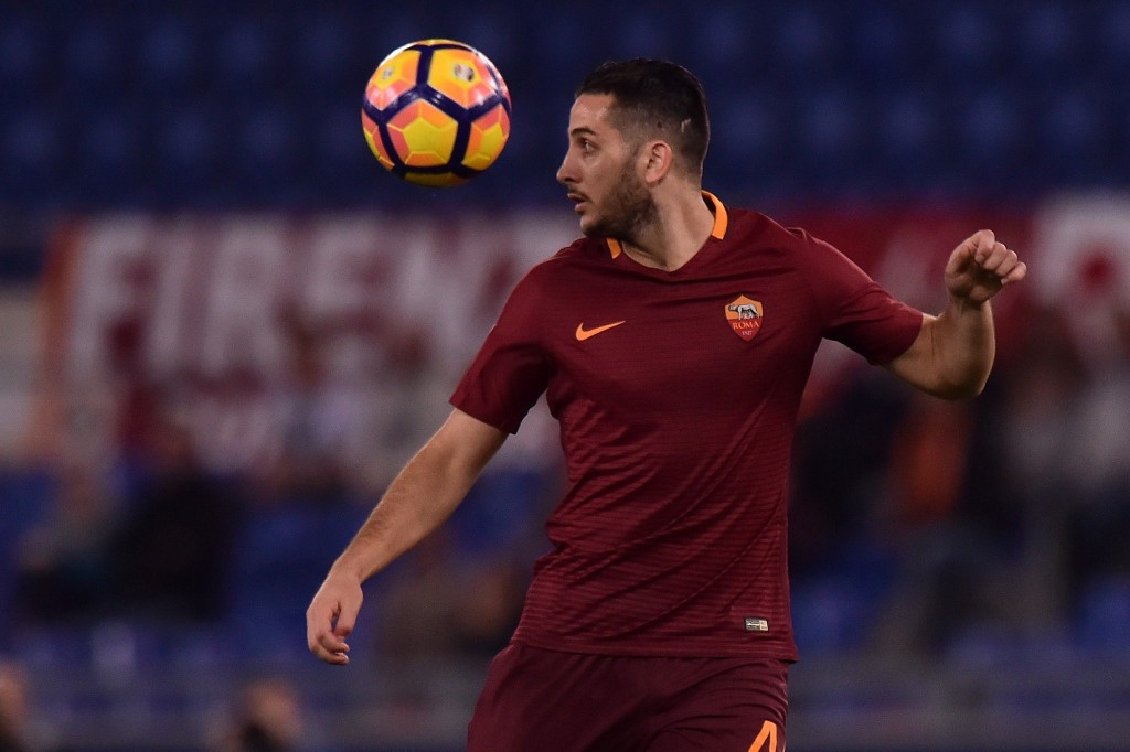 To defend is art and Manolas truly seems like an artist in Rome. (Picture Courtesy - AFP/Getty Images)