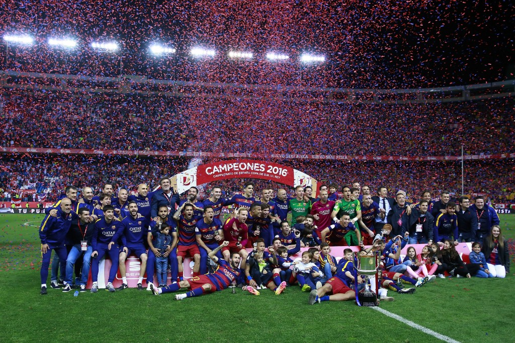 An eighth double - A gritty performance saw Barcelona win their 28th Copa Del Rey title. (Photo by Gonzalo Arroyo Moreno/Getty Images)