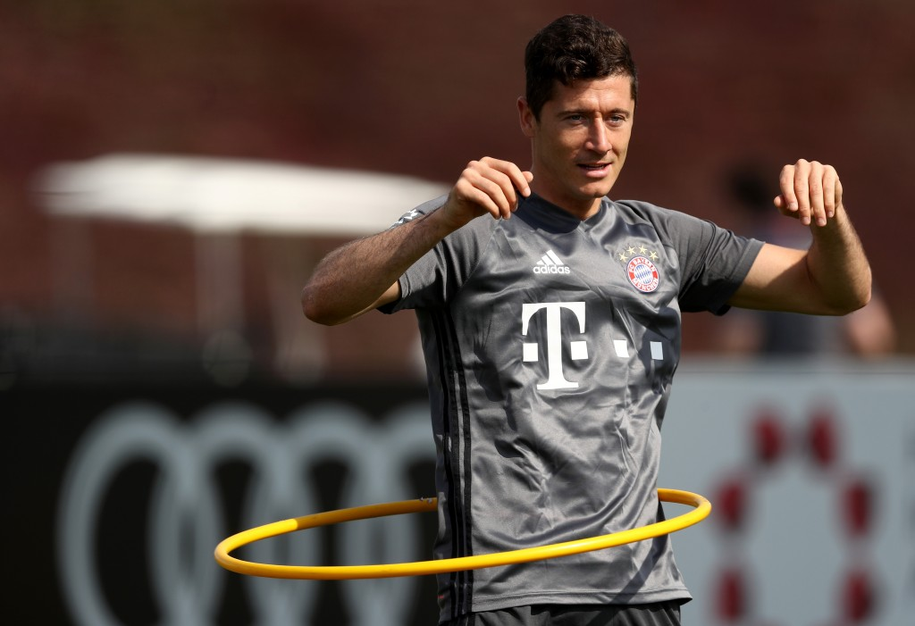 Happy at Bayern - Lewandowski turned down a chance to grab the big bucks in China, (Photo by Lars Baron/Bongarts/Getty Images)