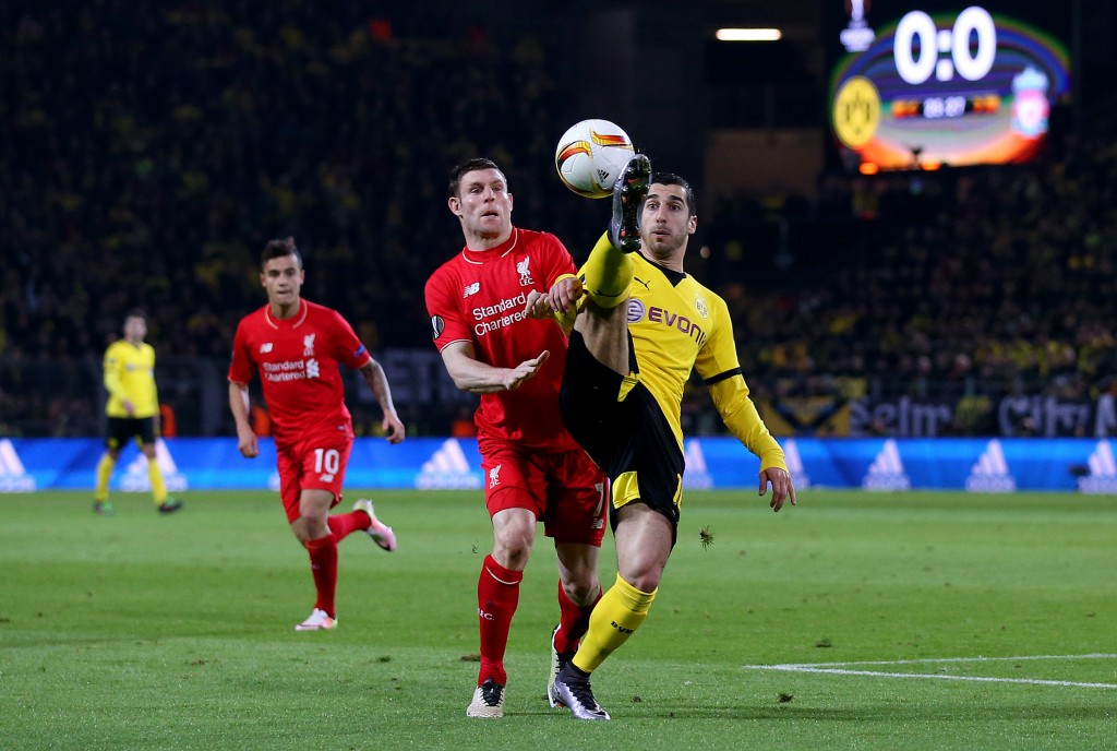 These two have already come up against each other, and the battle between Mkhitaryan and Milner will go a long way in determining the outcome of this match. (Photo courtesy - Lars Baron/Bongarts/Getty Images)