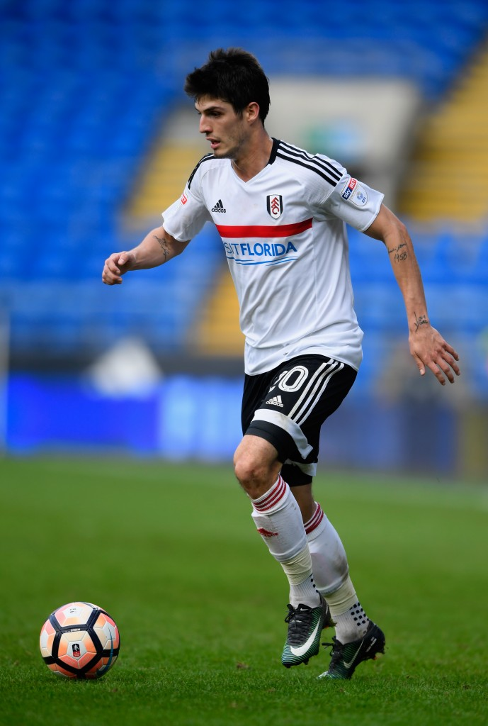 CARDIFF, WALES - JANUARY 08: Fulham player Lucas Piazon in action during the Emirates FA Cup Third Round match between Cardiff City and Fulham at Cardiff City Stadium on January 8, 2017 in Cardiff, Wales. (Photo by Stu Forster/Getty Images)