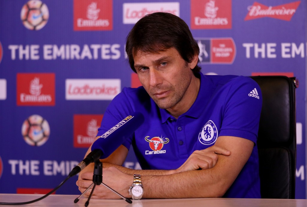 COBHAM, ENGLAND - JANUARY 06: Antonio Conte, Chelsea mananger, is pictured during a press conference at Chelsea Training Ground on January 6, 2017 in Cobham, England. (Photo by Andrew Redington/Getty Images)
