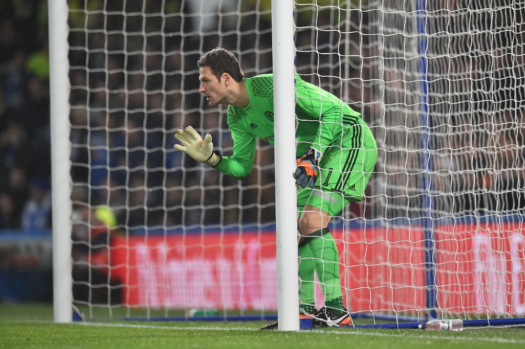 Hold up - Begovic's move to Bournemouth is on hold. (Photo courtesy - Glyn Kirk/AFP/Getty Images)