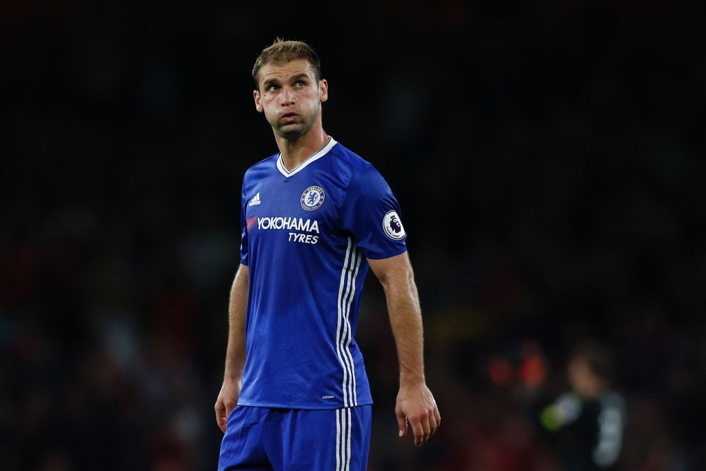 Chelsea's Serbian defender Branislav Ivanovic reacts at the end of the English Premier League football match between Arsenal and Chelsea at The Emirates stadium in London, on September 24, 2016. / AFP / IKIMAGES / Ian Kington / RESTRICTED TO EDITORIAL USE. No use with unauthorized audio, video, data, fixture lists, club/league logos or 'live' services. Online in-match use limited to 45 images, no video emulation. No use in betting, games or single club/league/player publications. (Photo credit should read IAN KINGTON/AFP/Getty Images)