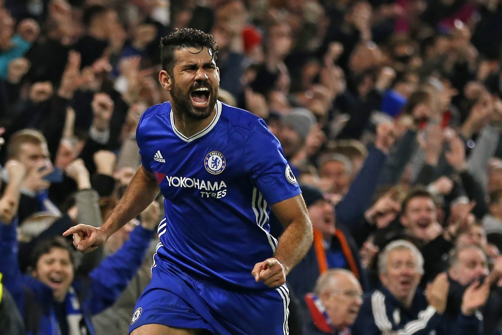 Prolific - Diego Costa has romped to the top of the Premier League goalscoring charts this season. (Photo courtesy - Ian Kington/AFP/Getty Images)
