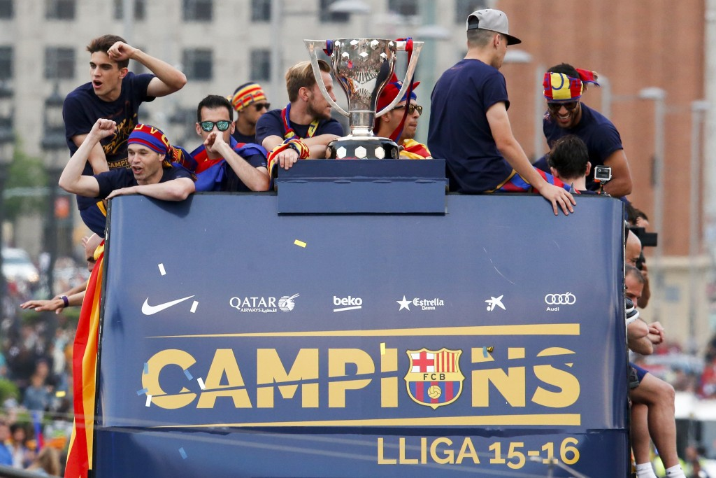 Cause to celebrate - Barcelona clinched their 23rd La Liga triumph in 2016. (Photo by Pau Barrena/AFP/Getty Images)