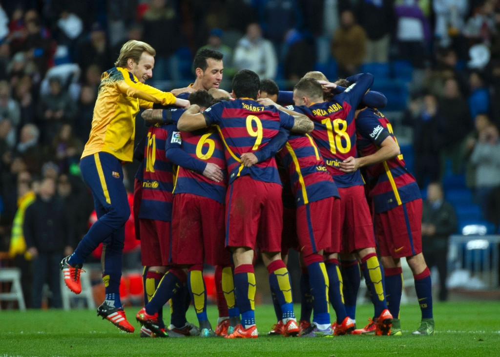What a run! Barcelona were at their imperious best as they went unbeaten for 39 games. (Photo by Curto De La Torre/AFP/Getty Images)