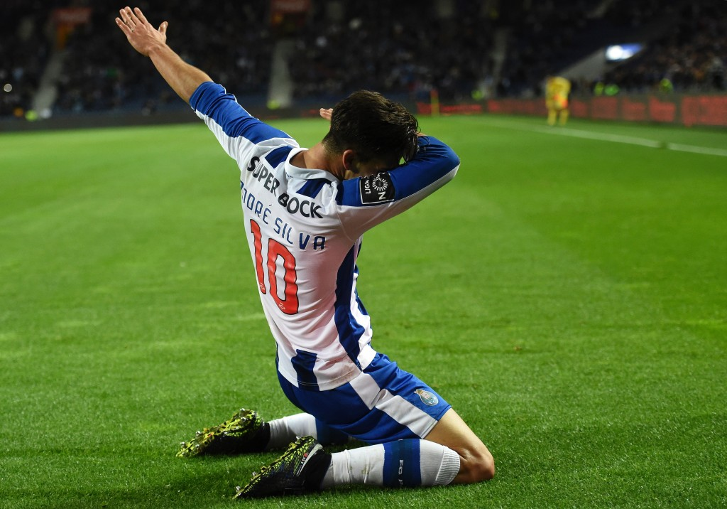 Dabbing away to North London - Arsenal are monitoring the progress of Andre Silva. (Photo courtesy - Francisco Leong/AFP/Getty Images)