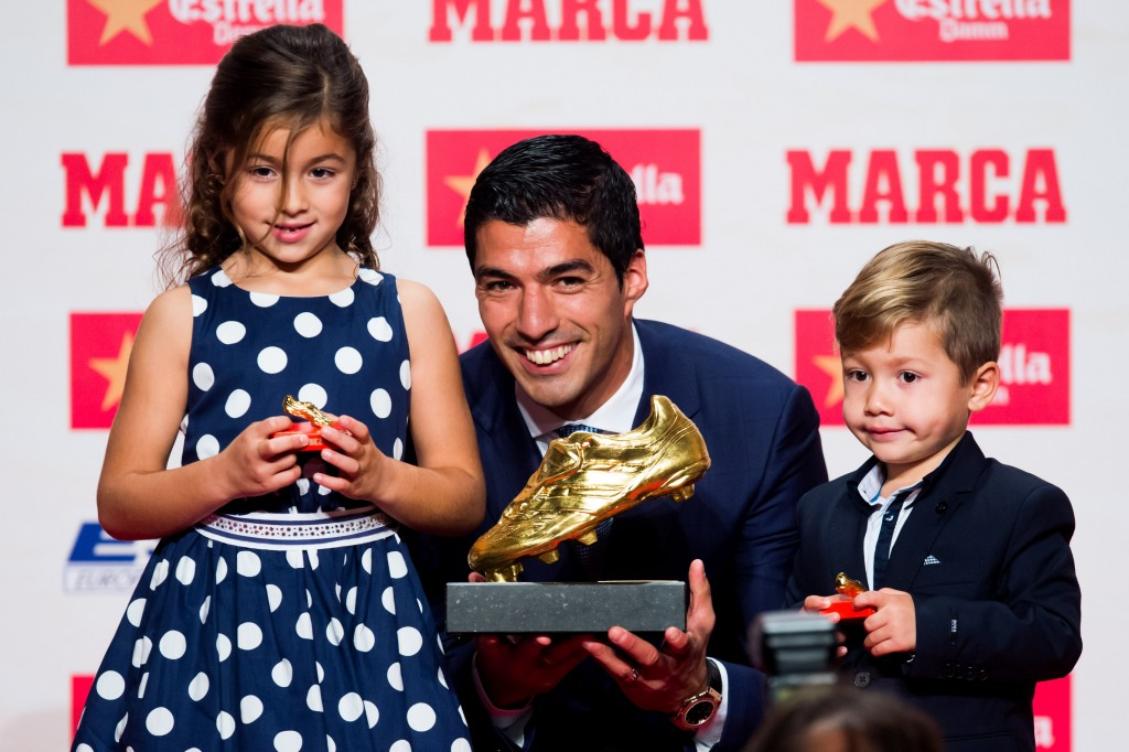 A golden year - Luis Suarez's goalscoring heroics saw them get his hands on the European Golden Boot as well as the Pichichi award. (Photo by Alex Caparros/Getty Images)