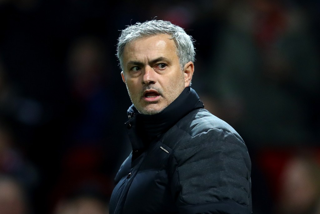 MANCHESTER, ENGLAND - JANUARY 10: Jose Mourinho, Manager of Manchester United looks on during the EFL Cup Semi-Final First Leg match between Manchester United and Hull City at Old Trafford on January 10, 2017 in Manchester, England. (Photo by Clive Mason/Getty Images)