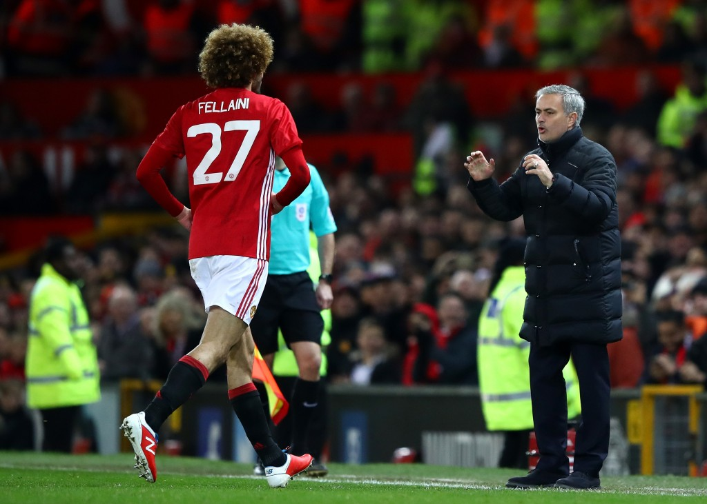 An ardent follower of Mourinho's methods, Fellaini is slowly regaining his place in the hearts of United fans. (Picture Courtesy - AFP/Getty Images)