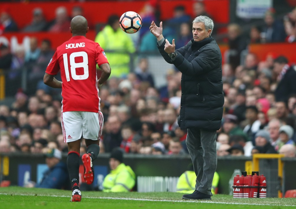 He's staying - Mourinho has confirmed that Ashley Young is not leaving Manchester United in January. (Photo courtesy - Clive Brunskill/Getty Images)