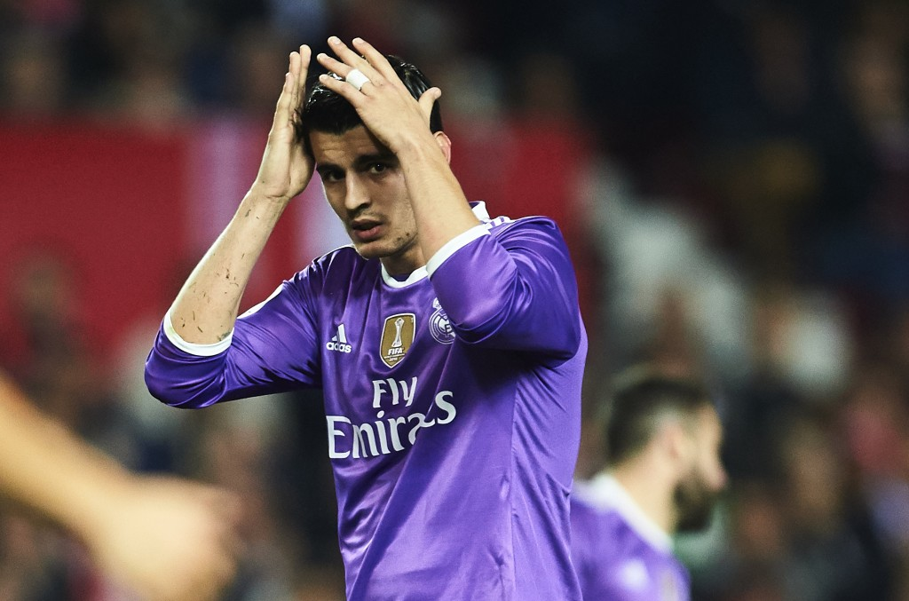 Alvaro Morata has struggled to hold down a regular place for himself in the Real Madrid first team. (Photo courtesy - Aitor Alcalde/Getty Images)