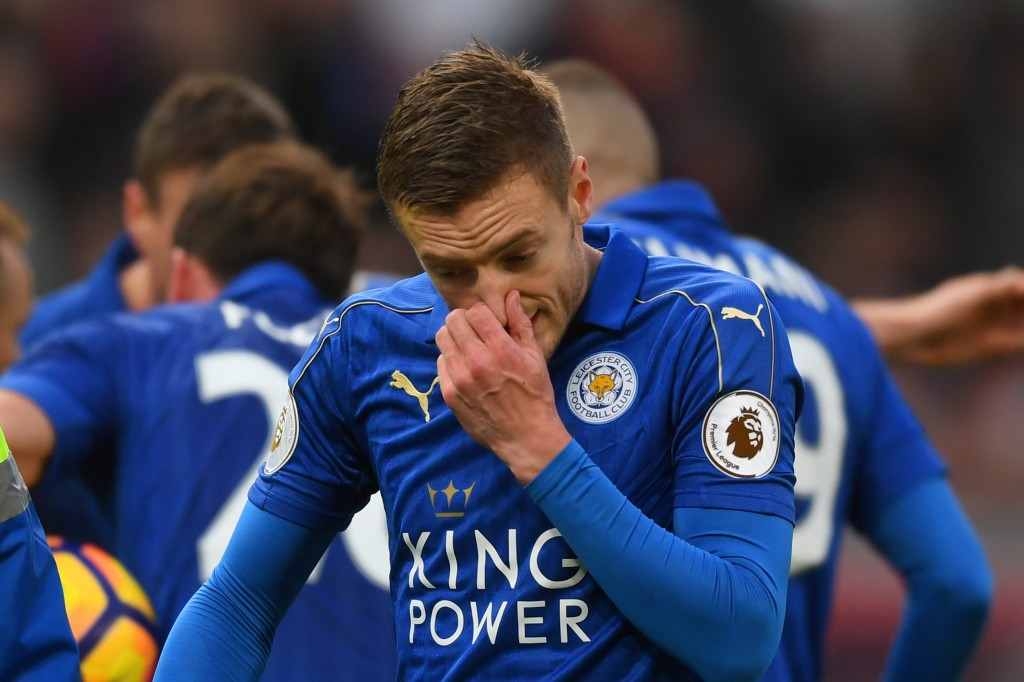 From the highs of last season to the struggles of this, Jamie Vardy looks a pale shadow of the player who took Premier League by storm in 2015/16. (Photo by Michael Regan/Getty Images)