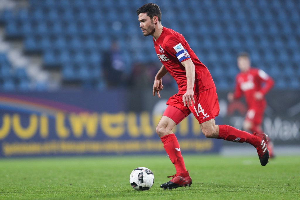 BOCHUM, GERMANY - JANUARY 07: Jonas Hector of Koeln controls the ball during a friendly match between VfL Bochum and 1. FC Koeln at Vonovia Ruhrstadion on January 7, 2017 in Bochum, Germany. (Photo by Maja Hitij/Bongarts/Getty Images)
