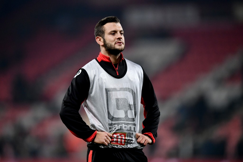BOURNEMOUTH, ENGLAND - DECEMBER 13: Jack Wilshere of AFC Bournemouth warms up prior to kickoff during the Premier League match between AFC Bournemouth and Leicester City at the Vitality Stadium on December 13, 2016 in Bournemouth, England. (Photo by Dan Mullan/Getty Images)