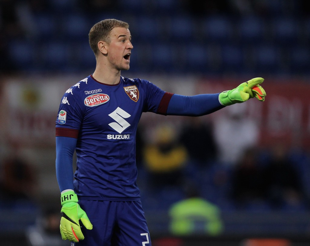 ROME, ITALY - FEBRUARY 19: FC Torino goalkeeper Joe Hart reacts during the Serie A match between AS Roma and FC Torino at Stadio Olimpico on February 19, 2017 in Rome, Italy. (Photo by Paolo Bruno/Getty Images)