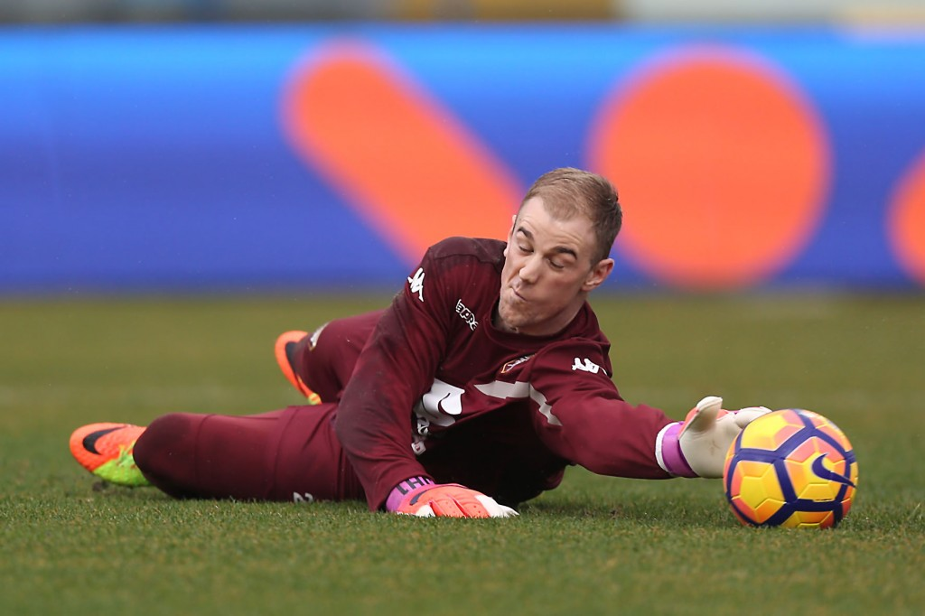EMPOLI, ITALY - FEBRUARY 05: Joe Hart of FC Torino in action during heating prior to the Serie A match between Empoli FC and FC Torino at Stadio Carlo Castellani on February 5, 2017 in Empoli, Italy. (Photo by Gabriele Maltinti/Getty Images)