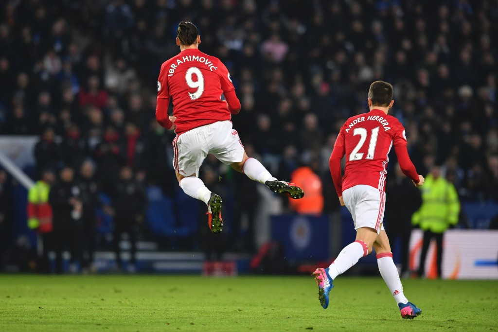 Ibrahimovic has been in scintillating form for Manchester United this season. (Photo courtesy - Ben Stansall/AFP/Getty Images)