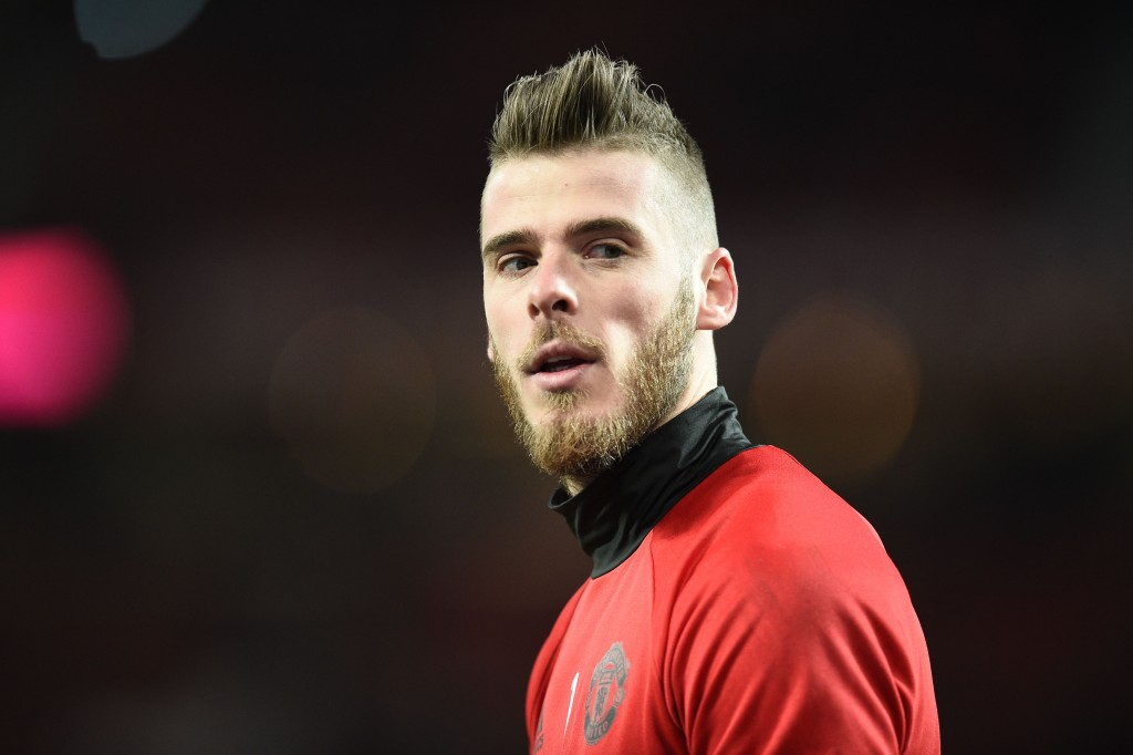 David de Gea will man the net for the game against Arsenal. (Photo courtesy - Oli Scarff/AFP/Getty Images)