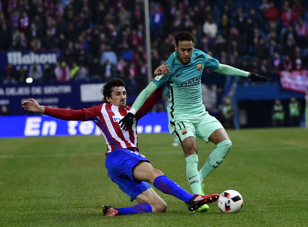 Vrsaljko has been in and out of the Atletico Madrid defence this season. (Photo courtesy - Pierre-Philippe Marcou/AFP/Getty Images)