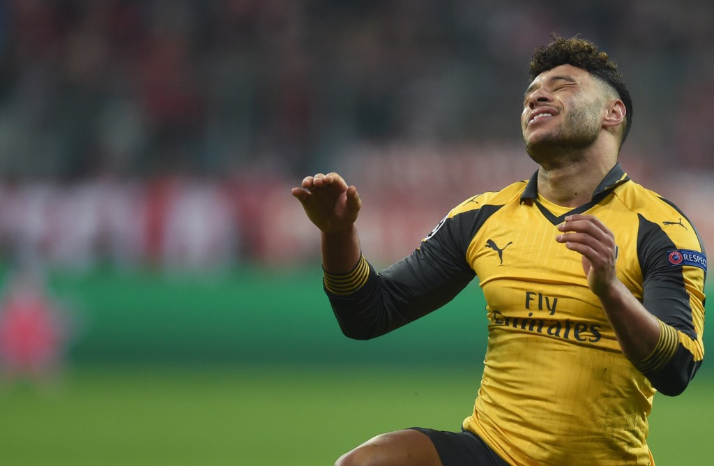 Frustrated at Emirates, could The Ox be on the move? (Picture Courtesy - AFP/Getty Images)