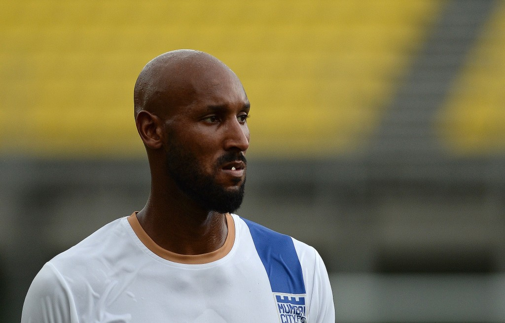 Anelka's last bit in football saw him play and manage Mumbai City FC in 2015. (Photo courtesy - Punit Paranpe/AFP/Getty Images)