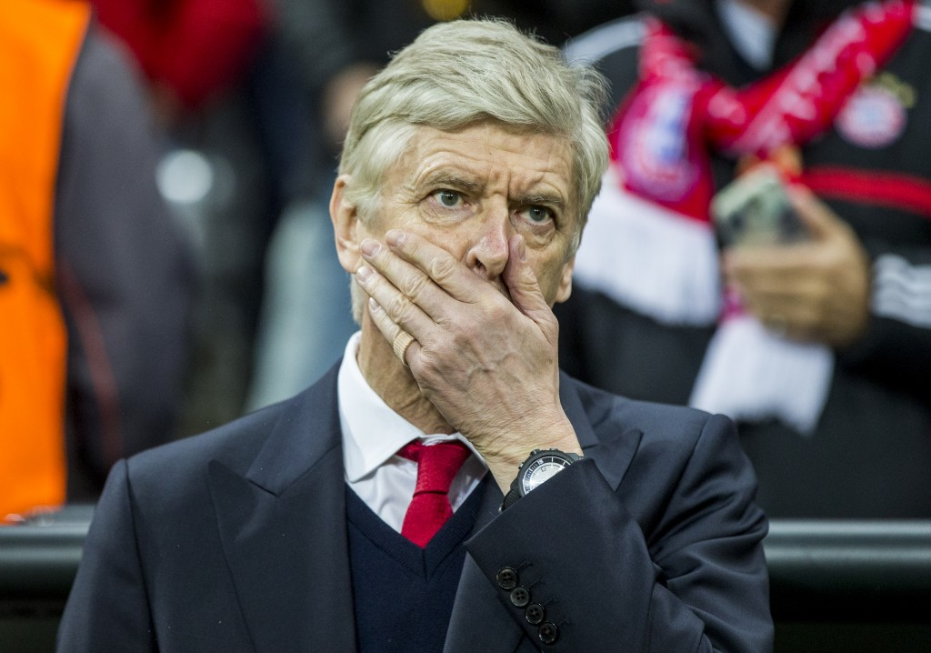 Every Arsenal fan had the same reaction as Wenger as Arsenal were brushed aside at the Allianz Arena. (Picture Courtesy - AFP/Getty Images)
