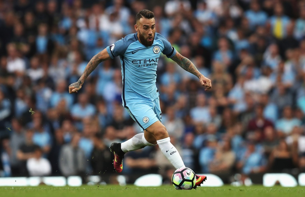 MANCHESTER, ENGLAND - AUGUST 28: Nicolas Otamendi of Manchester City in action during the Premier League match between Manchester City and West Ham United at Etihad Stadium on August 28, 2016 in Manchester, England. (Photo by Chris Brunskill/Getty Images)