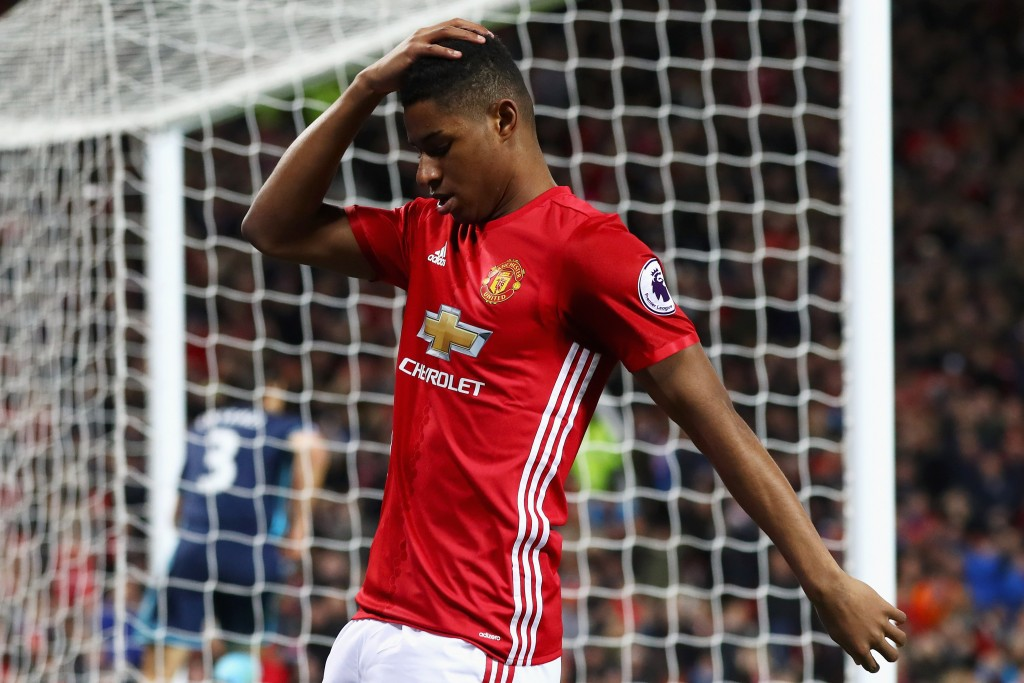 Marcus Rashford is growing frustrated at the lack of game time coming his way. (Photo courtesy - Matthew Lewis/Getty Images)